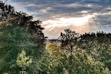 Prag - Kalter Sonnenschein von Wout van den Berg
