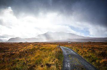 Klein huisje in Schotland van Peter de Jong