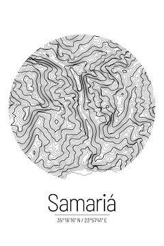 Samaria-kloof | Kaarttopografie (Minimaal) van ViaMapia