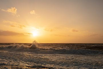 zoutelande zonsondergang 5 van anne droogsma