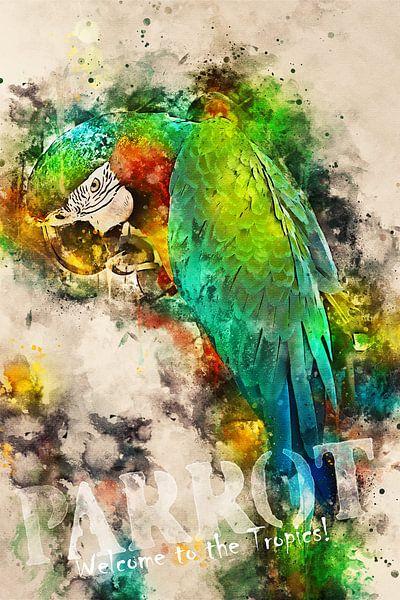 Parrot - Welcome to the tropics! van Sharon Harthoorn