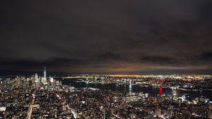 Manhattan bei Nacht von