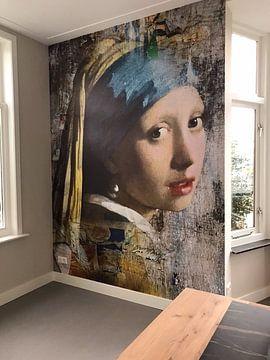 Kundenfoto: Girl with a Pearl Earring - a Mural von Marja van den Hurk