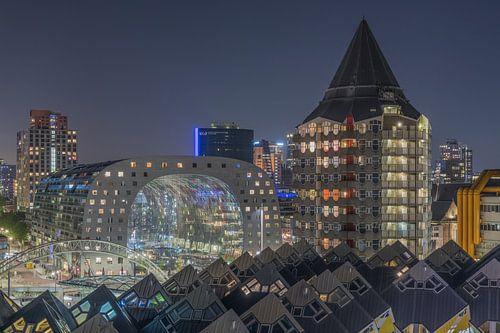 Het stadscentrum van Rotterdam met de Markthal en het Potlood