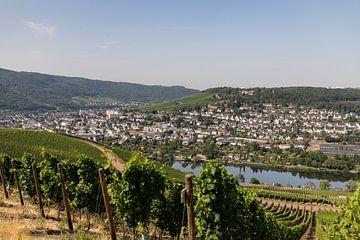 Blick auf das Moseltal und die Stadt Bernkastel-Kues von Reiner Conrad