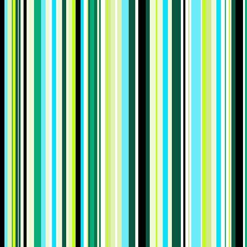 Striped art lime green and aqua blue van