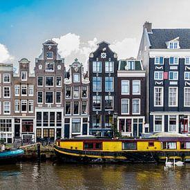 Fassaden auf der Singel Gracht in Amsterdam.  von Don Fonzarelli