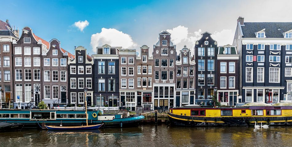 Gevels aan het Singel in Amsterdam.