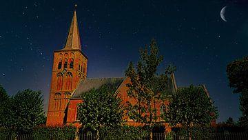 Kirche unter dem Sternenhimmel von Digital Art Nederland