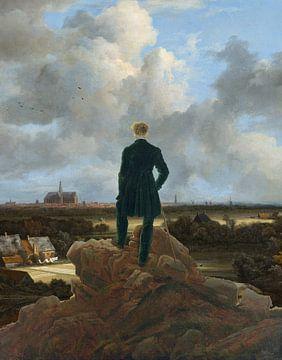 Der Spaziergänger blickt über die Bleichfelder nach Haarlem