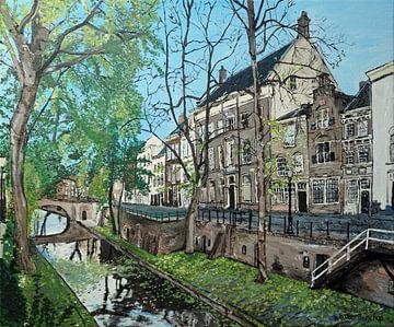 Nieuwegracht in Utrecht in de herfst van Wouter Bisschop