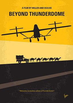 No051 My Mad Max 3 Beyond Thunderdome minimal movie poster van Chungkong Art