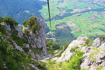 De Rauschbergbahn in Ruhpolding Zuid Duitsland van tiny brok