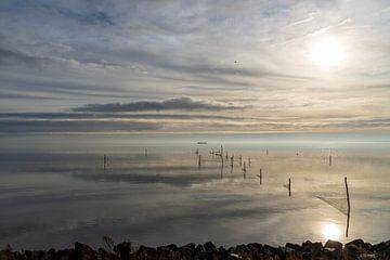 Soleil d'hiver IJsselmeer sur Sybe Postma