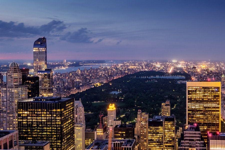 New York    zum Sonnenuntergang van Kurt Krause