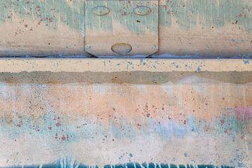 Wand mit farbigen Flächen von Rietje Bulthuis