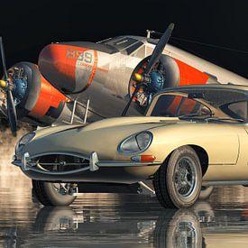 Jaguar E-Type - Une voiture de sport légendaire de 1960 sur Jan Keteleer