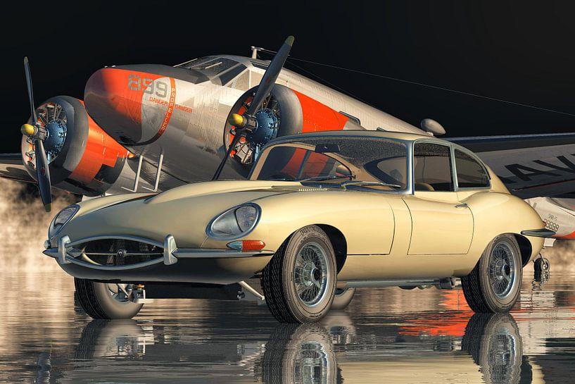 Jaguar E-Type - ein legendärer Sportwagen von 1960 von Jan Keteleer
