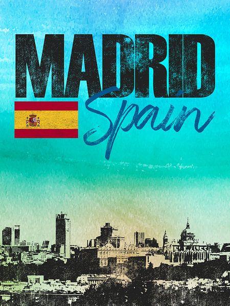 Madrid Spanje van Printed Artings