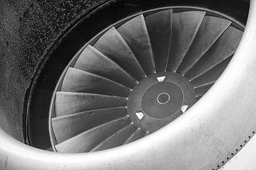 Vliegtuigmotor van