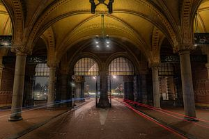 Fietstunnel onder het Rijksmuseum
