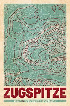 Zugspitze | kaarttopografie (retro) van ViaMapia