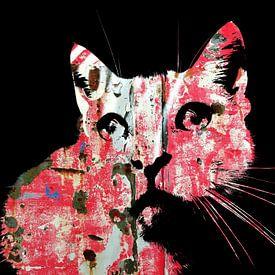 Kattenkunst - Indy 4 van MoArt (Maurice Heuts)