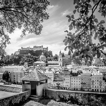 SALZBURG Blick auf die Altstadt mit Stadtmauer| Monochrom  sur Melanie Viola