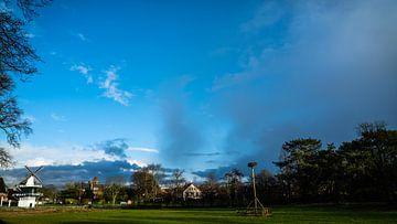 Heemstede Groenendaalsebos Kinderboerderij Zonsondergang kleur in januari 2021 van Bob Van der Wolf