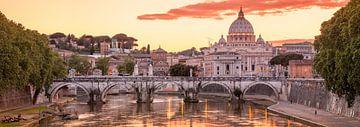 Zonsondergang in Rome - Roman sunset van Teun Ruijters