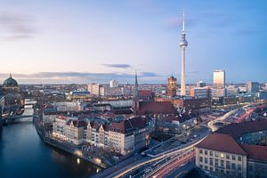 Abendliche Skyline von Berlin von wukasz.p