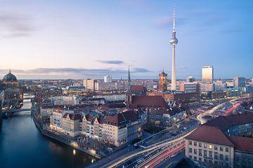 Avond skyline van Berlijn van wukasz.p