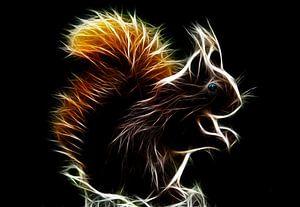 Glühendes Eichhörnchen