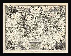Alte Weltkarte aus der Zeit um 1625