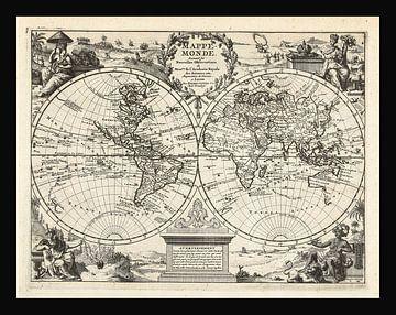 Alte Weltkarte aus der Zeit um 1625 von Gert Hilbink