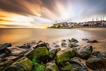 Un coucher de soleil à l'IJsselmeer sur Fotografiecor .nl
