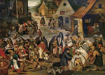 De werken van barmhartigheid, Pieter Brueghel de Jonge van