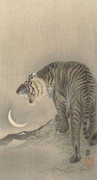 Der brüllende Tiger von Ohara Koson