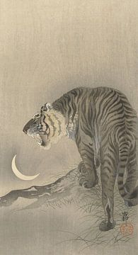 Brullende tijger van Ohara Koson