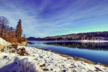 Winterse Opper-Beieren aan de Walchensee van Roith Fotografie