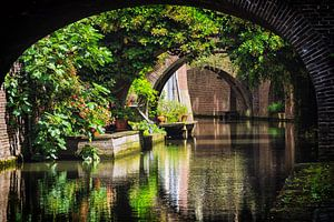 De bruggen over de Kromme NIeuwegracht in Utrecht  van