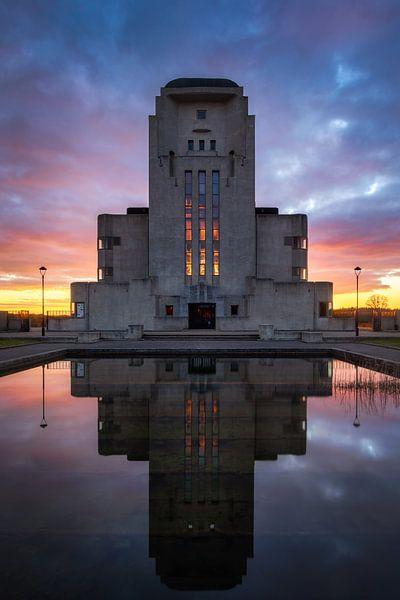 Zonsondergang Radio Kootwijk van Patrick Rodink