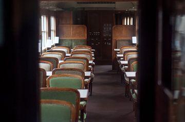Een historische trein van Johan van der Helm