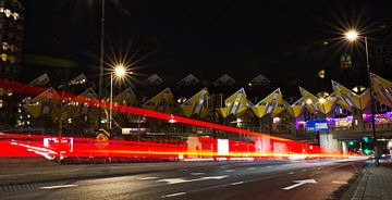 Rotterdam by Night; Kubuswoningen van Astrid Luyendijk