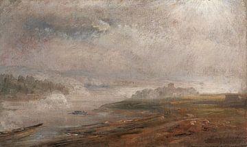 Die Elbe an einem nebligen Morgen, Johan Christian Dahl