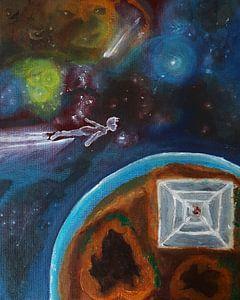 Kosmische Malerei, Ölgemälde, Exo-Planet von Celine Seelemann