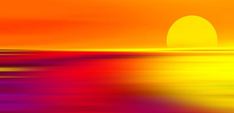 Sonnenuntergang  van Violetta Honkisz