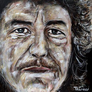 Portret van Bob Dylan, Robert Allen Zimmerman van Therese Brals
