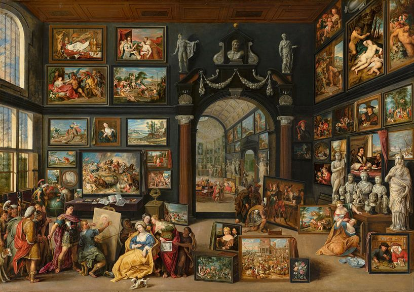 Apelles malt Kampaspe - Willem van Haecht von Meesterlijcke Meesters