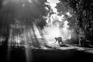Afrikaanse stoffige weg van Ellis Peeters
